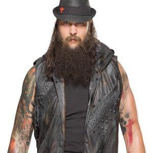 American Professional Wrestler Bray Wyatt Leather Hoodie Vest