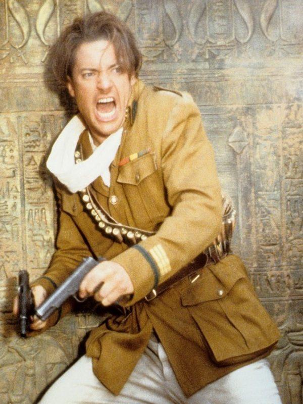The Mummy Brendan Fraser Brown Cotton Coat