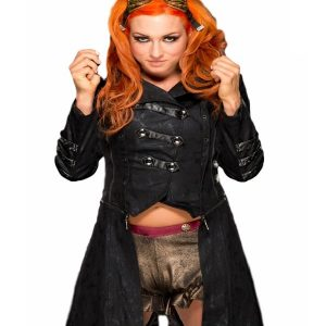 Wrestler Becky Lynch Leather Coat