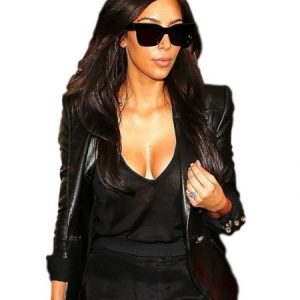 Kim Kardashian Leather Blazer