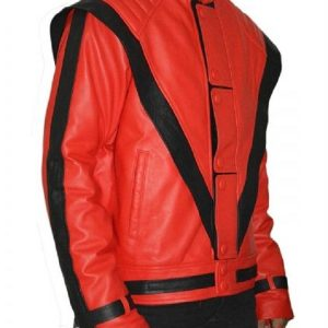 Michael Jackson's Thriller Song Red Leather Jacket