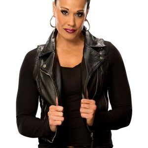 Tamina Snuka Black leather Vest