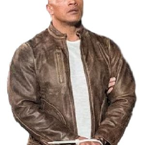 Rampage Davis Okoye Dwayne Johnson Leather Jacket