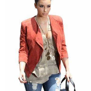 Kim Kardashian Red Blazer