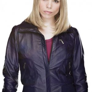Drama Series Doctor Who Billie Piper Rose Tyler Leather Jacket
