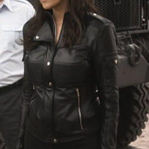 Amanda Tapping Sanctuary Dr. Helen Magnus Leather Jacket