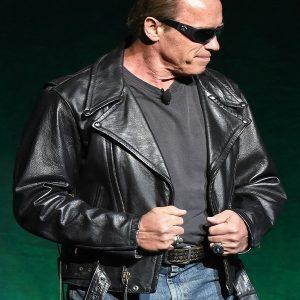 Arnold Schwarzenegger Leather Jacket