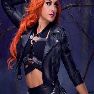 Irish Professional Wrestler Becky Lynch Black Leather Jacket