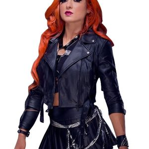 Irish Professional Wrestler Becky Lynch Black Leather Jacket