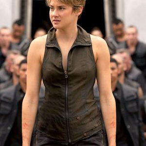 Science fiction Series Insurgent Tris Shailene Woodley Leather Vest