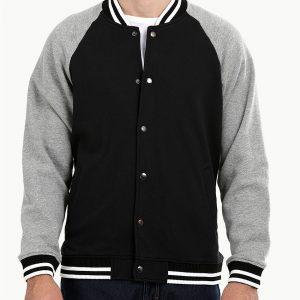 Men Snap Button Varsity Stylish Design Jacket