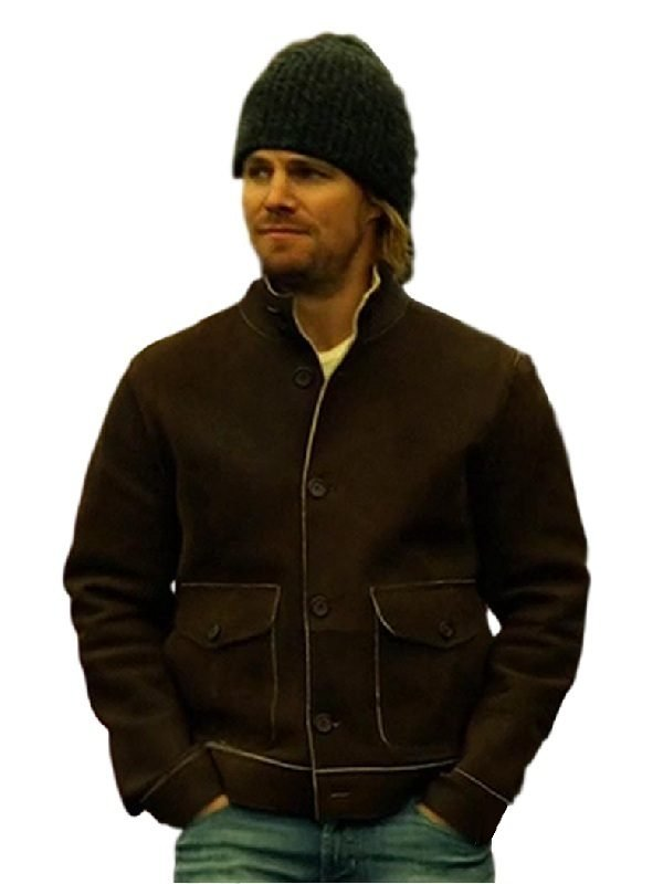 Stephen Amell Arrow Suede leather Jacket