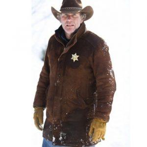Robert Sheriff Walt Longmire Leather Coat