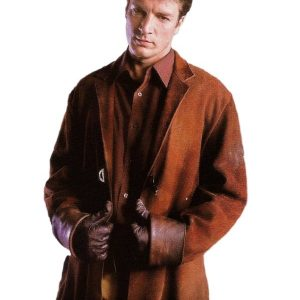 Captain Malcolm Reynolds Firefly Suede leather Coat