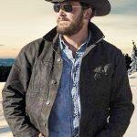 Cole Hauser Yellowstone Rip Wheeler Black Jacket