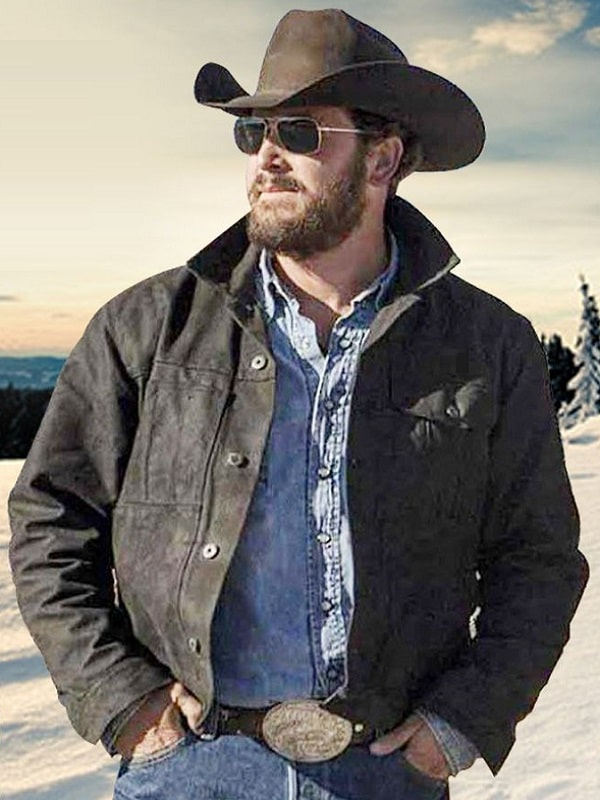 Cole Hauser Yellowstone Rip Wheeler Black Jacket
