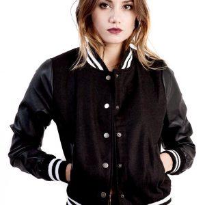 Ladies Classic Style Varsity Jacket