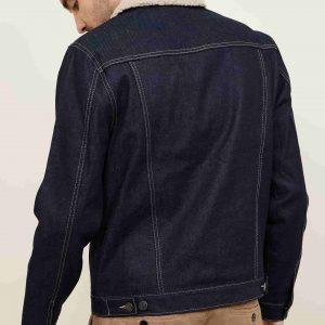 Men's Elegant Design Fur Collar Denim Jacket