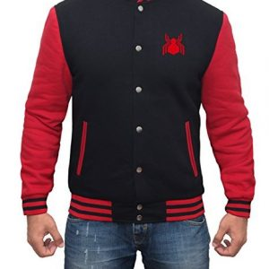Superhero Avengers Infinity War Spider Logo Varsity Jacket