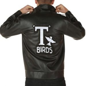 Adult John Travolta Grease T-Bird Stylish Leather Jacket