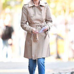 American singer Selena Gomez Stylish Coat