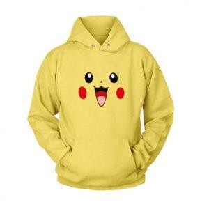 2019 Pokemon Pikachu Yellow Hoodie