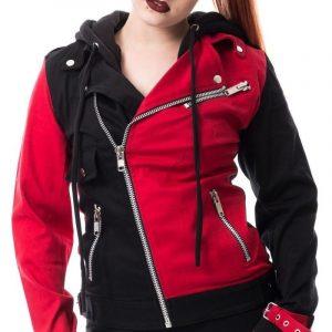 Harley Quinn Suicide Squad Biker Style Hoodie Jacket