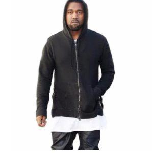 Kanye West Fleece Black Hoodie Jacket + White T-Shirt