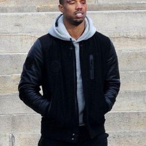 Michael B. Jordan Kobe Destroyer XXIV Battle Black Sleeves Jacket