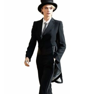 Cara Delevingne Stylish Tuxedo Coat