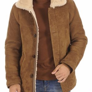 Man Classic Suede Shearling Jacket