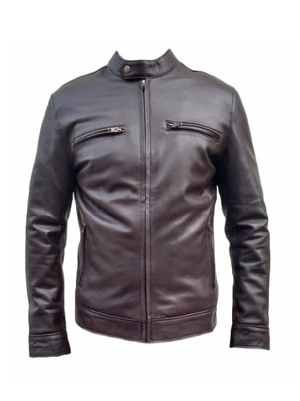 Jason Beghe leather jacket, Chicago P.D. Hank Voight Jacket, Brown Jacket, Classic leather jacket, celebjacket.com, slimfit leather jacket, two front pocket jacket