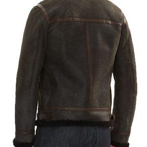 Man Classic B7 Bomber Style Shearling Jacket