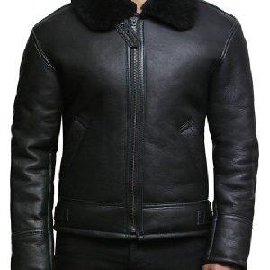 Man Classic Aviator B3 Shearling Sheepskin Jacket