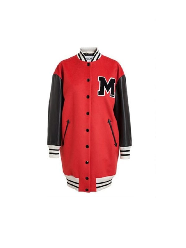 Get Rihanna long Varsity Jacket