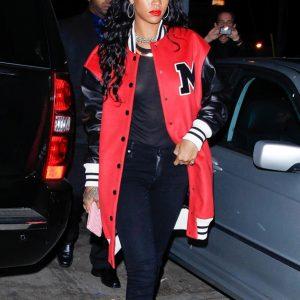 Singer Rihanna Long Varsity Jacket