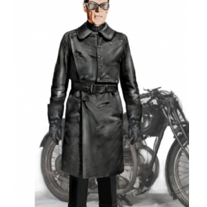 The Grand Budapest Hotel Jopling Willem Dafoe Leather Coat