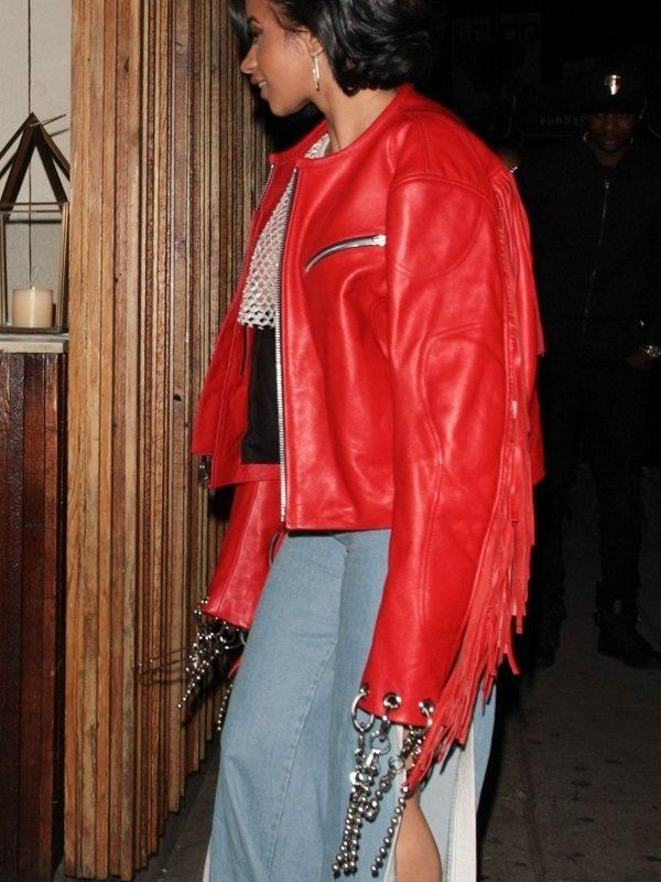 Belcalis Marlenis Almánzar Cardi B Leather Jacket