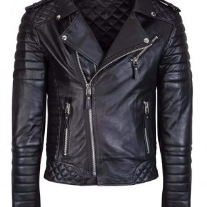 Men's Classic Brando Stylish Black leather Jacket for Sale