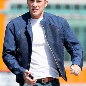 Chris Evans Winter Soldier Blue Jacket