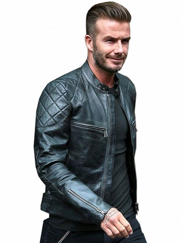 David Beckham Slim Fit Real Leather Jacket