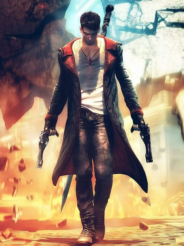 Video Game Devil May Cry 5 Dante Cosplay Hooded Leather Coat