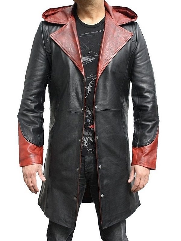 Action Video Game Devil May Cry 5 Dante Cosplay Hooded Coat