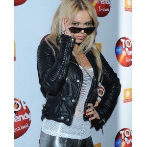 Dorota Rabczewska Singer Doda Biker Leather Jacket