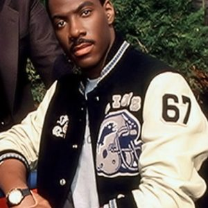 Movie Beverly Hills Cop Eddie Murphy Axel Foley Varsity Jacket