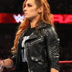 Irish wrestler Becky Lynch Leather Jacket