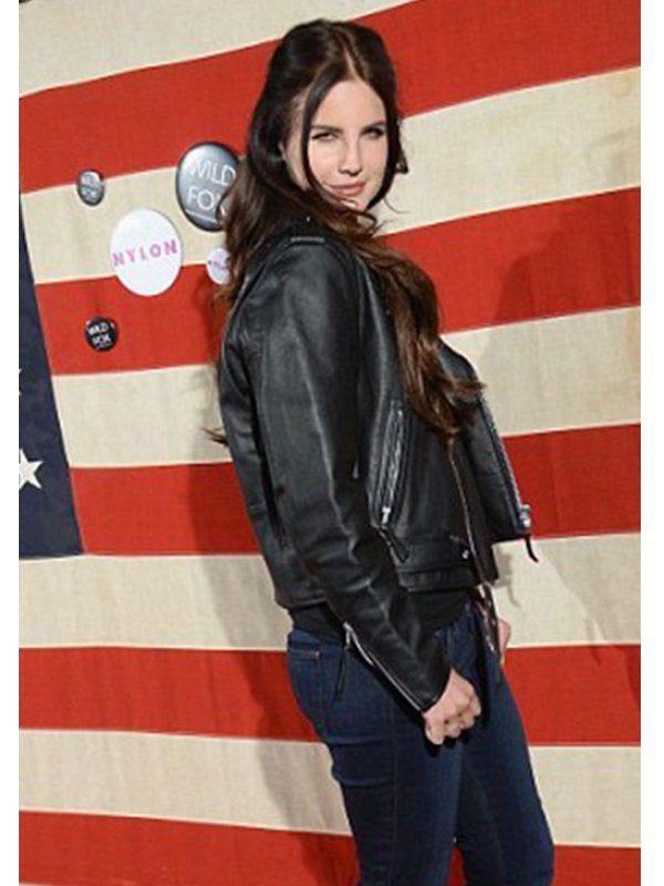 Singer Lana Del Rey Leather Jacket