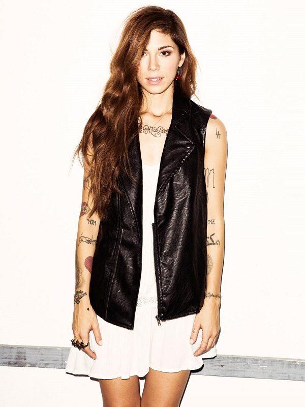 Christina Perri Leather Vest
