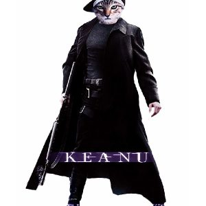 Action, Comedy, Crime Based Movie Keanu Cat Coat