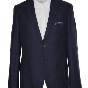 Men Classic Fit Navy Coat